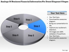 Information Pie Donut Diagram 6 Stages Sample Of Business Proposal PowerPoint Slides