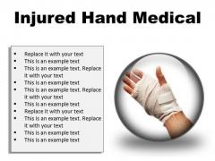 Injured Hand Medical PowerPoint Presentation Slides C
