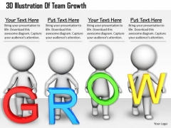 Innovative Marketing Concepts 3d Illustration Of Team Growth Character Models