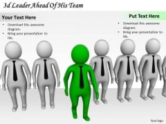 Innovative Marketing Concepts 3d Leader Ahead Of His Team Character