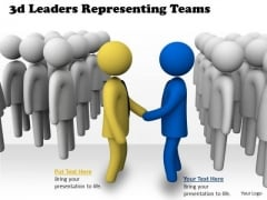 Innovative Marketing Concepts 3d Leaders Representing Teams Character