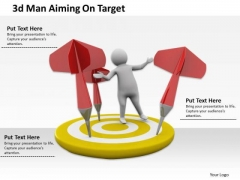 Innovative Marketing Concepts 3d Man Aiming Target Business Statement