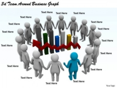 Innovative Marketing Concepts 3d Team Around Business Graph Characters