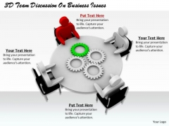 Innovative Marketing Concepts 3d Team Discussion Business Issues Basic