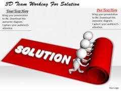 Innovative Marketing Concepts 3d Team Working For Solution Characters