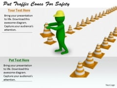 Innovative Marketing Concepts Put Traffic Cones For Safety 3d Character