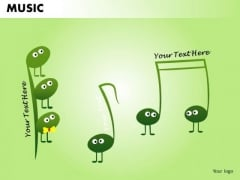 Insects Musical Icons PowerPoint Design Slides
