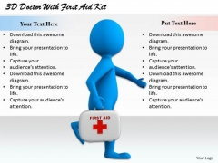 International Marketing Concepts 3d Doctor With First Aid Kit Character Models