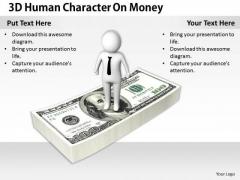 International Marketing Concepts 3d Human Character Money Models