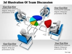 International Marketing Concepts 3d Illustration Of Team Discussion Business Statement