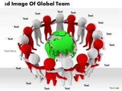 International Marketing Concepts 3d Image Of Global Team Business Statement
