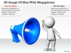 International Marketing Concepts 3d Image Of Man With Megaphone Character Modeling