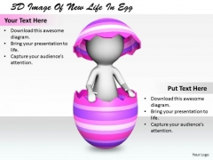 International Marketing Concepts 3d Image Of New Life Egg Character Modeling