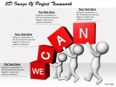 International Marketing Concepts 3d Image Of Perfect Teamwork Character Modeling