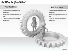 International Marketing Concepts 3d Man Gear Wheel Basic Business