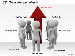 International Marketing Concepts 3d Team Around Arrow Character