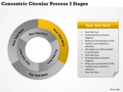International Marketing Concepts Circular Process 3 Stages Business Development Strategy