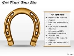 International Marketing Concepts Gold Plated Horse Shoe Business Image
