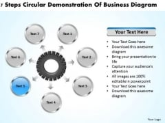 International Marketing Concepts Step Circular Demonstration Of Business Diagram PowerPoint