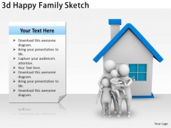 Internet Business Strategy 3d Happy Family Sketch Adaptable Concepts