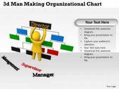 Internet Business Strategy 3d Man Making Organizational Chart Concept