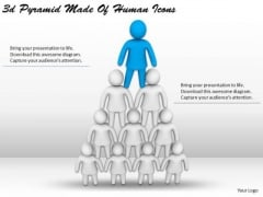 Internet Business Strategy 3d Pyramid Made Of Human Icons Concept