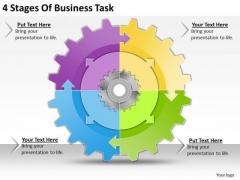 Internet Business Strategy 4 Stages Of Task Strategic Planning Template Ppt Slide