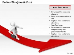 Internet Business Strategy Follow The Growth Path Concepts