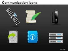 Internet Communication Icons PowerPoint Slides And Ppt Clipart Graphics