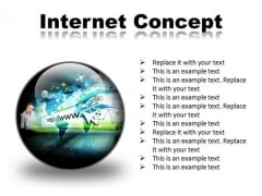 Internet Concept Business PowerPoint Presentation Slides C