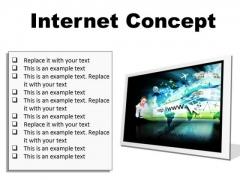 Internet Concept Business PowerPoint Presentation Slides F
