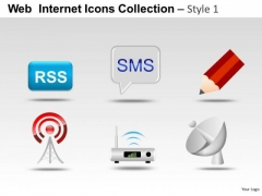 Internet Message Web Internet Icons PowerPoint Slides And Ppt Clipart Graphics