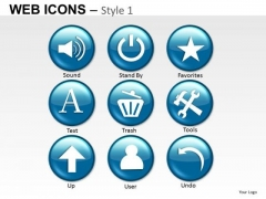 Internet Web Icons PowerPoint Slides And Clipart Graphics