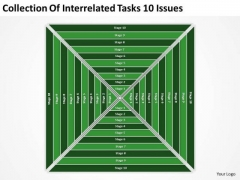 Interrelated Tasks 10 Issues Ppt Sample Real Estate Business Plan PowerPoint Slides