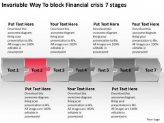 Invariable Way To Block Financial Crisis 7 Stages Flow Diagram PowerPoint Templates