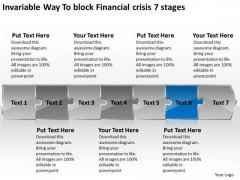 Invariable Way To Block Financial Crisis 7 Stages Flowchart Free PowerPoint Templates