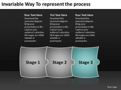 Invariable Way To Represent The Process Work Flow Chart PowerPoint Templates