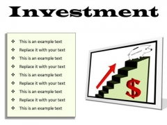 Investment Success PowerPoint Presentation Slides F
