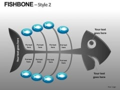 Ishikawa Fishbone Diagram Editable PowerPoint Slides