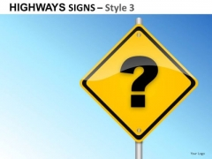 Isolated Lines Highways Signs 3 PowerPoint Slides And Ppt Diagram Templates