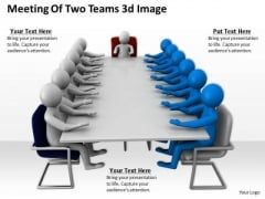 It Business Strategy Meeting Of Two Teams 3d Image Characters
