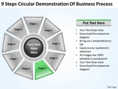 It Business Strategy Steps Circular Demonstration Of Process Level