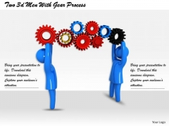 It Business Strategy Two 3d Men With Gear Process Characters