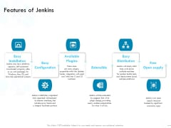 Jenkins Overview Presentation Features Of Jenkins Ppt Layouts Visuals PDF