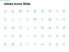 Jidoka Icons Slide Technology Marketing Ppt PowerPoint Presentation Model Example