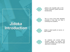 Jidoka Introduction Management Ppt PowerPoint Presentation Summary Guidelines