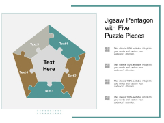 Jigsaw Pentagon With Five Puzzle Pieces Ppt PowerPoint Presentation File Model