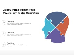 Jigsaw Puzzle Human Face Psychology Vector Illustration Ppt PowerPoint Presentation File Visuals PDF