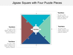 Jigsaw Square With Four Puzzle Pieces Ppt PowerPoint Presentation Layouts Themes