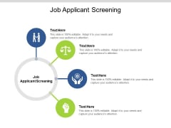 Job Applicant Screening Ppt PowerPoint Presentation Summary Guide Cpb